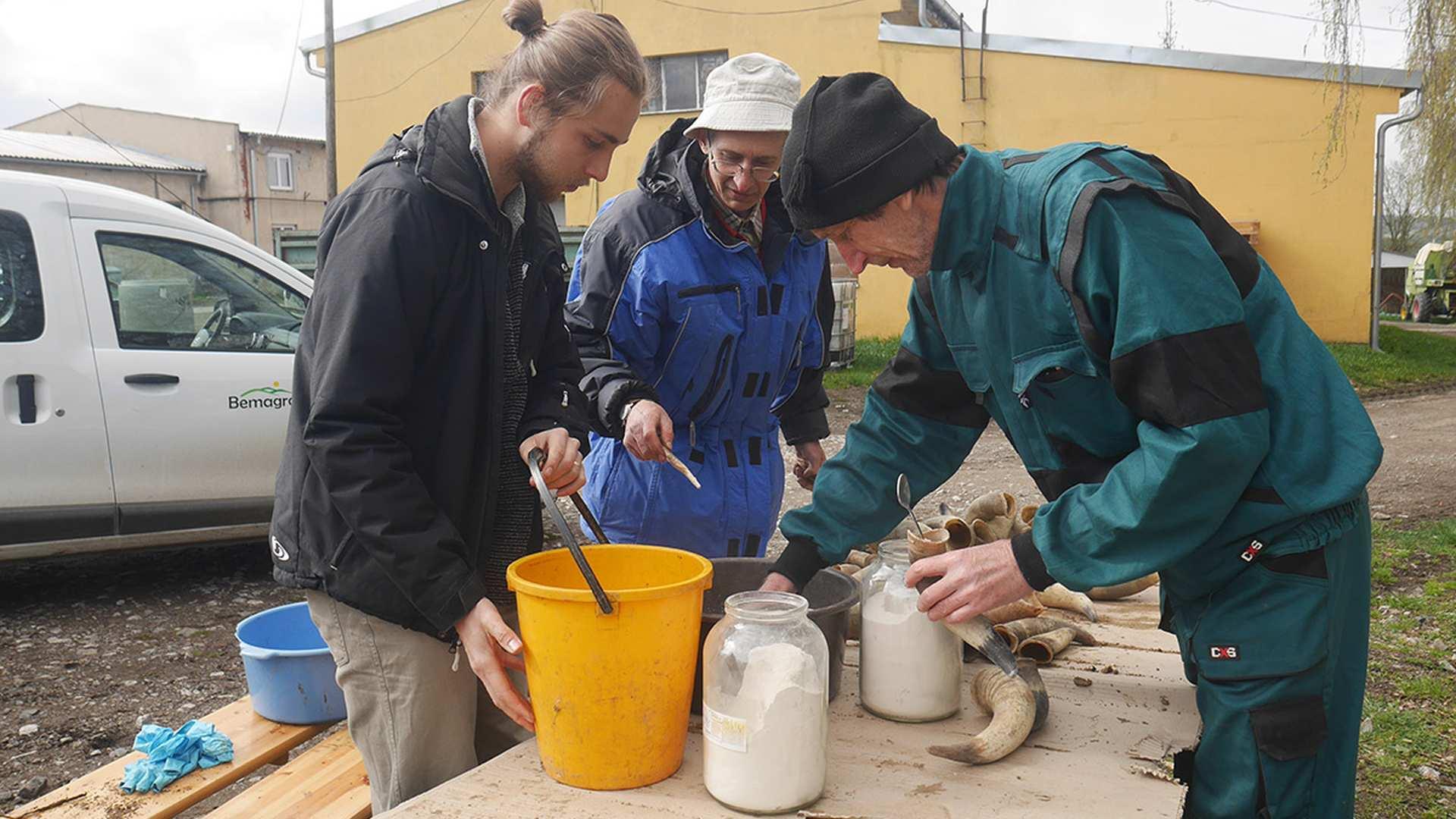 Příprava křemenáčku na farmě Bemagro, Malonty