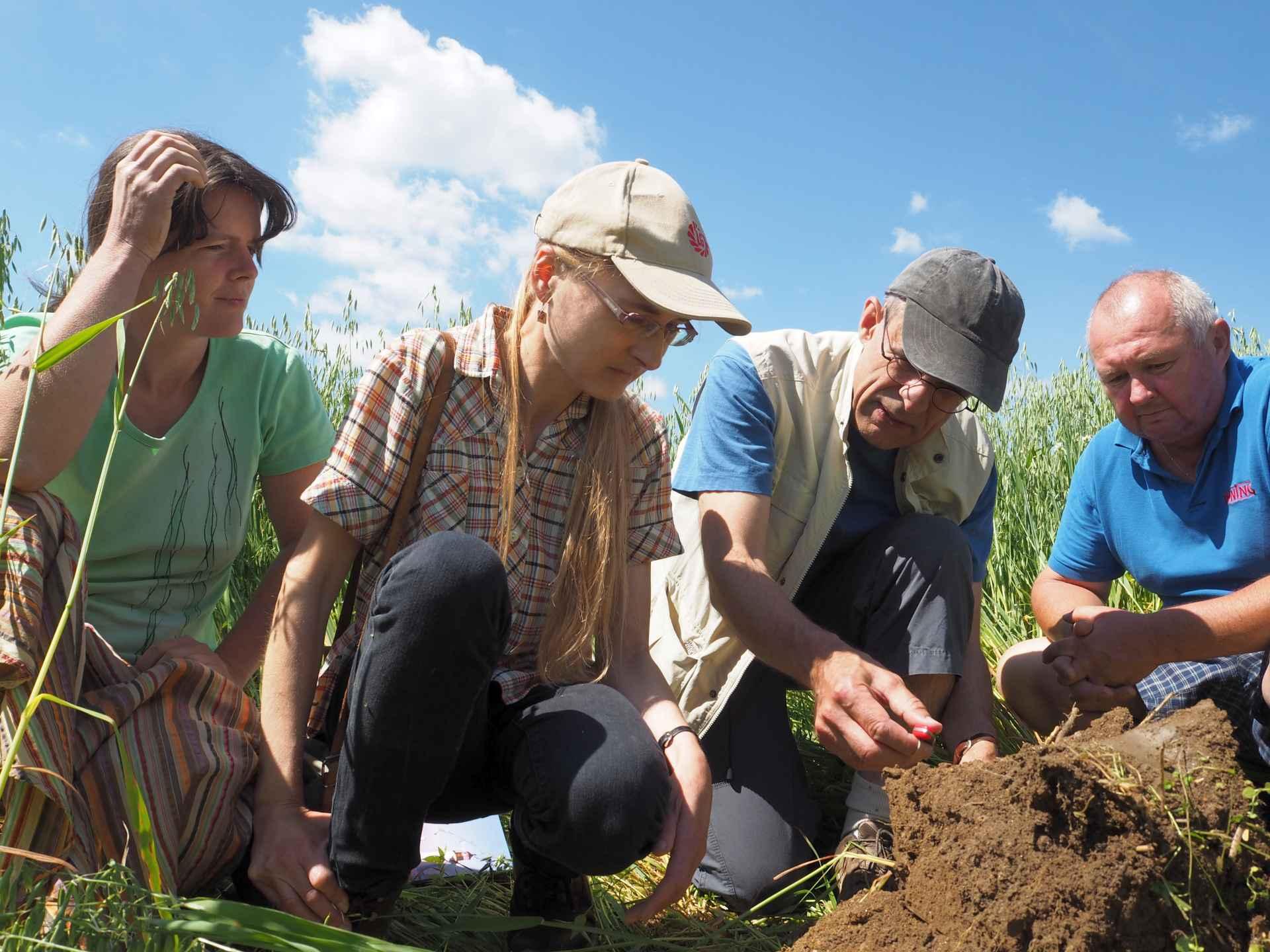 Záběr ze semináře - ukázka indikátorů zdravé půdy