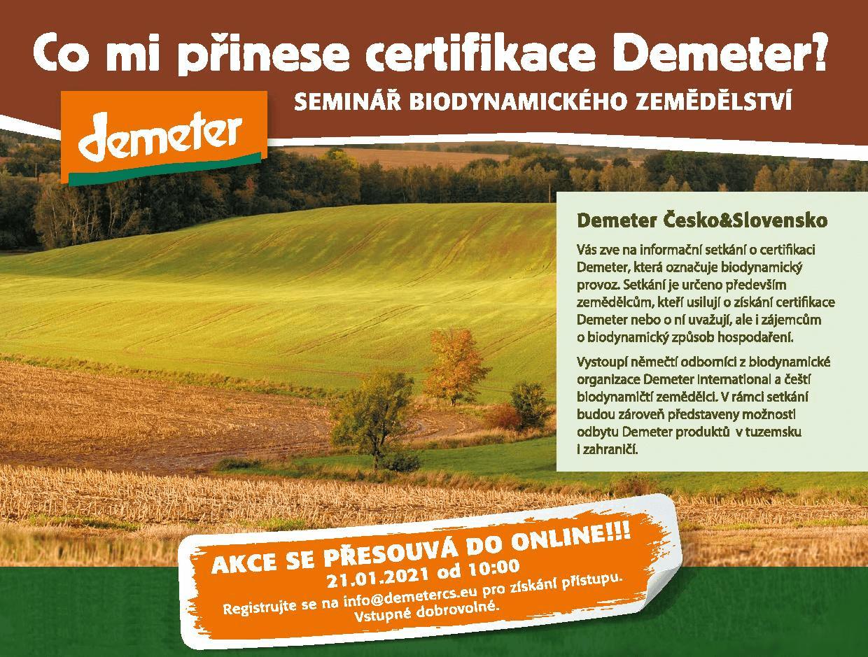 21.1.2021, Co mi přinese certifikace Demeter?